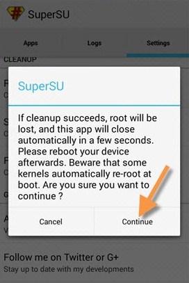 Unroot Android dengan SuperSU 3