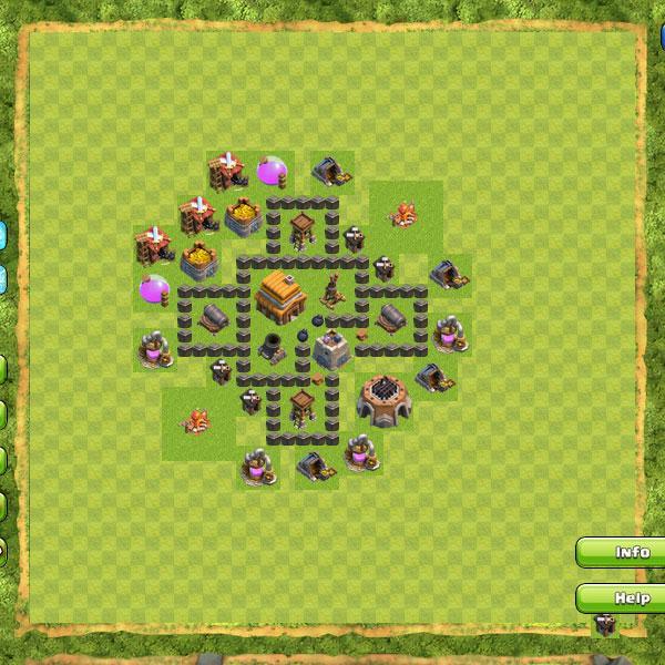 Cara Membuat Base Coc Th 4 Terkuat 10