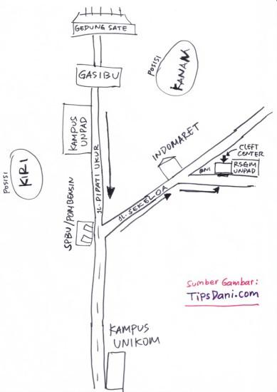 peta lokasi cleft center bandung