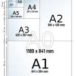 Ukuran Kertas seri A (A0, A1, A2, A3, A4, A5, A6, A7, A8, A9, A10)