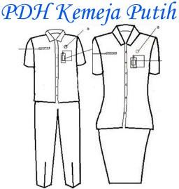 pakaian PDH kemeja putih