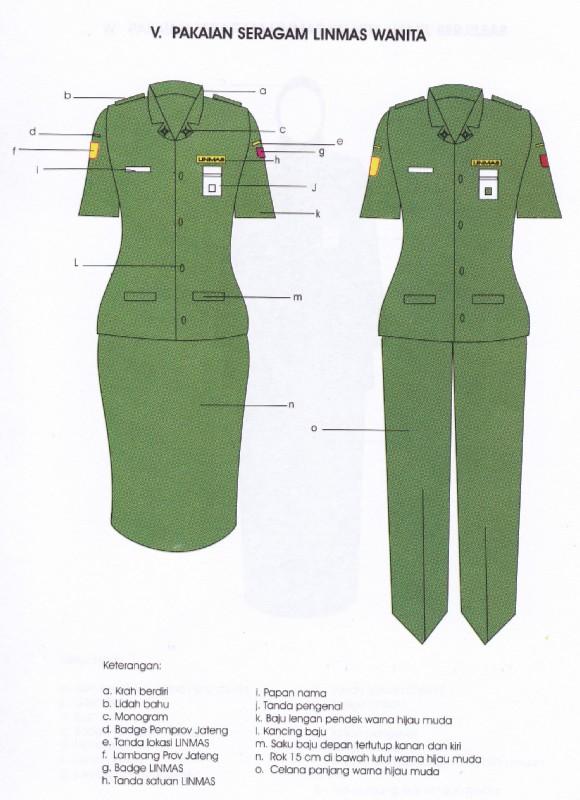 pakaian dinas linmas